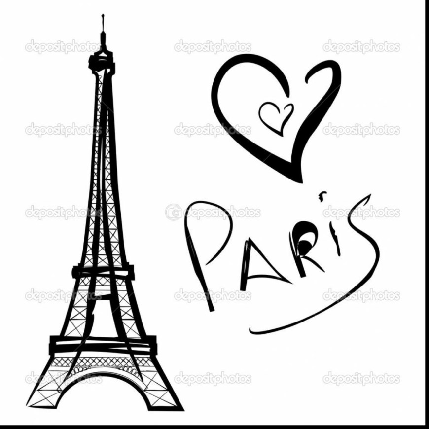 Eiffel Tower Coloring Page Coloring Pages Perspective Paris Eiffel Tower Coloring Pages