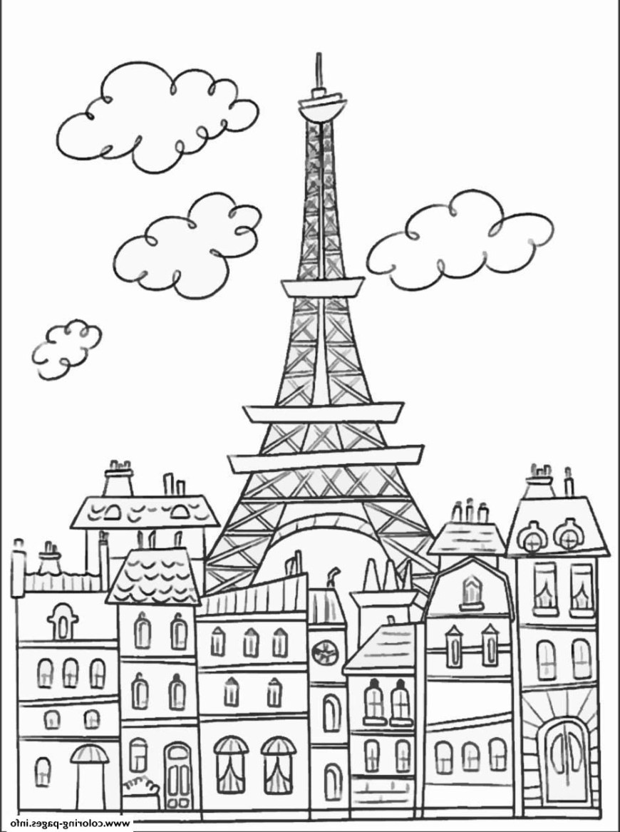 Eiffel Tower Coloring Page Paris Coloring Book Vfbi Adult Paris Buildings And Eiffel Tower