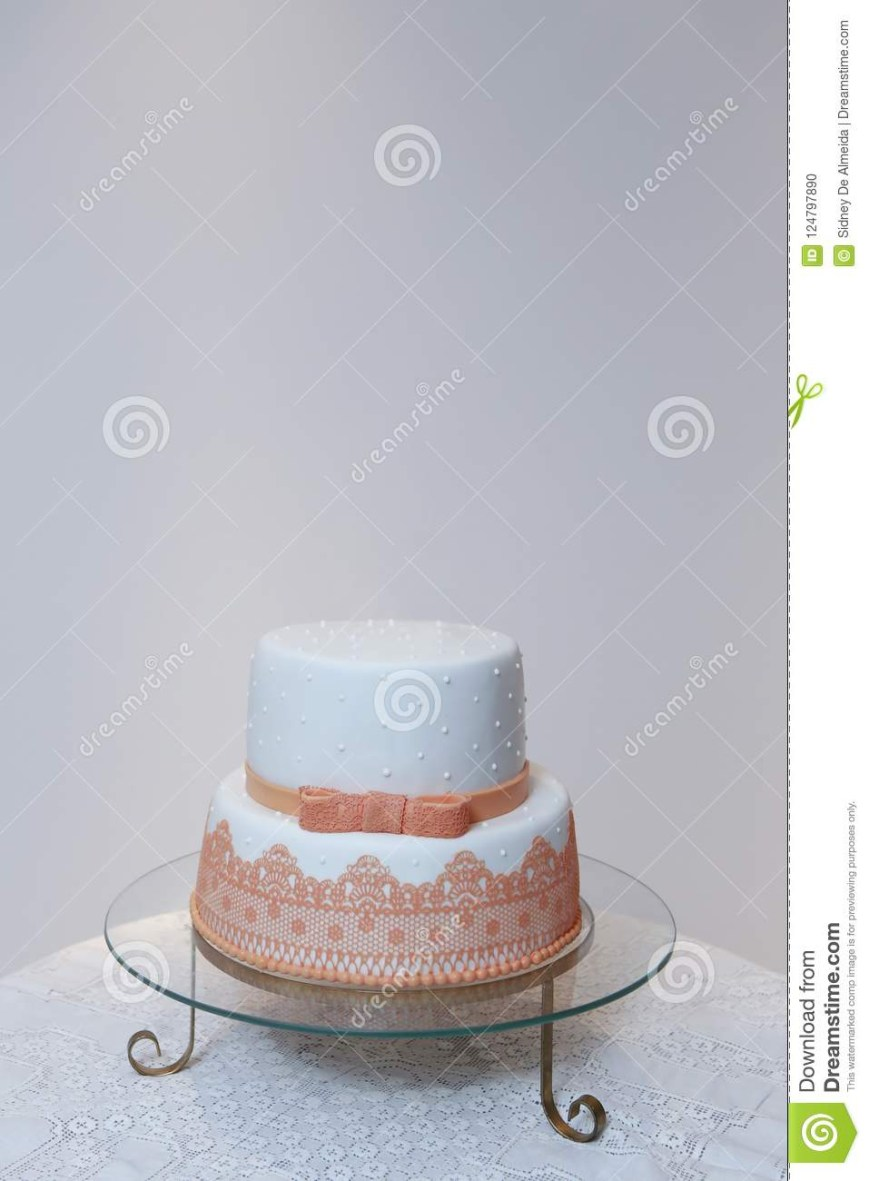 Elegant Birthday Cake Images Elegant Birthday Cake With Orange Color Detail Stock Photo Image