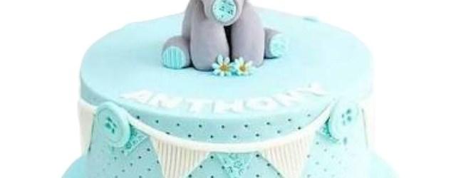 Elephant Birthday Cake Ba Elephant Birthday Cake