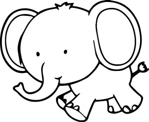 Elephant Coloring Pages Elephant Coloring Page Very Cute Small Elephant Coloring Page