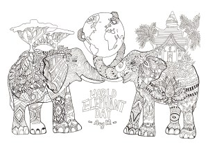 Elephant Coloring Pages Elephants Coloring Pages For Adults
