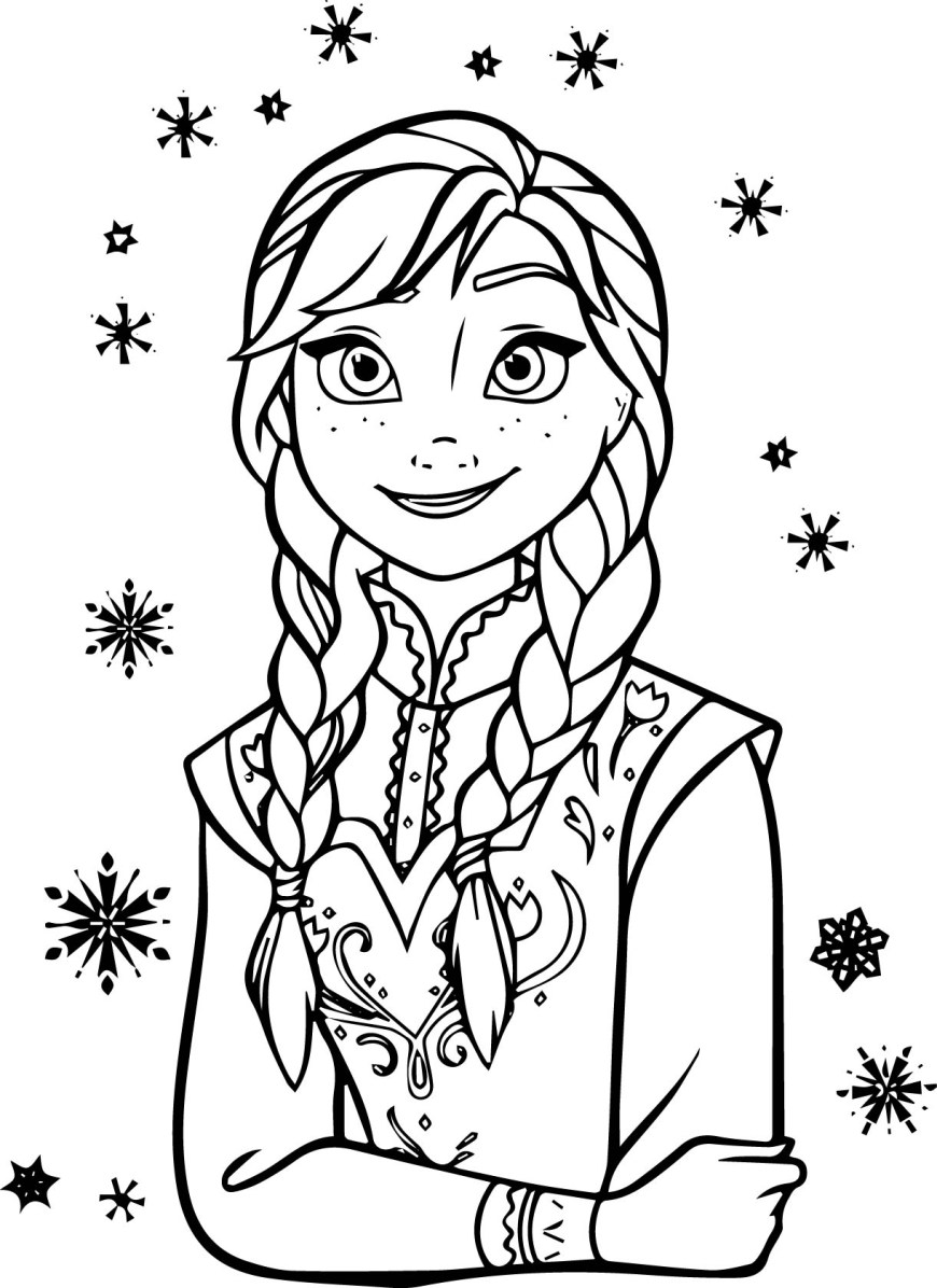 Elsa Anna Coloring Pages Anna Listen Coloring Page Wecoloringpage