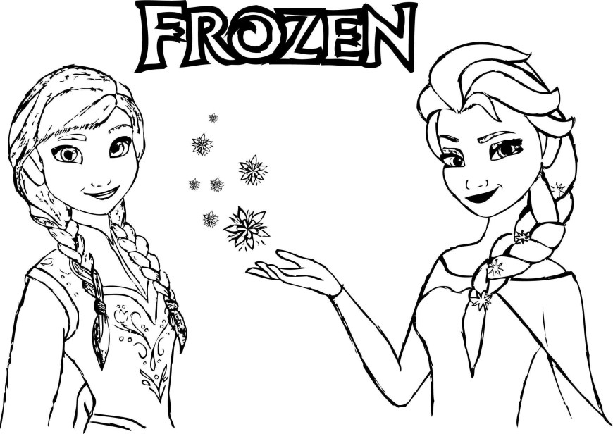 Elsa Anna Coloring Pages Elsa From The Frozen Coloring Page Free Printable Pages Throughout
