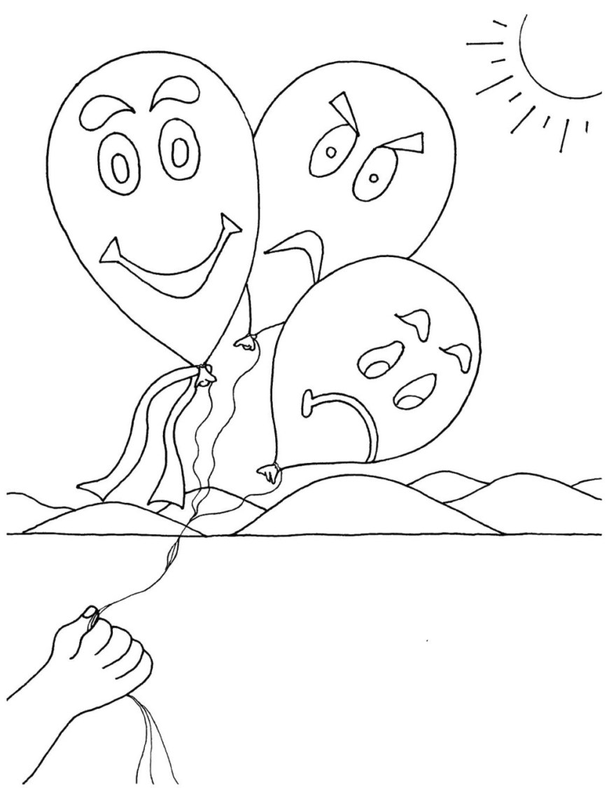 Emotions Coloring Pages Emotions Coloring Pages Getcolorings Printable Book Colouring Ins
