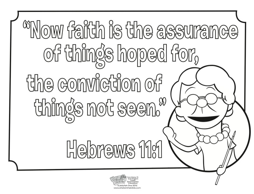 Faith Coloring Pages Hebrews 111 Coloring Page