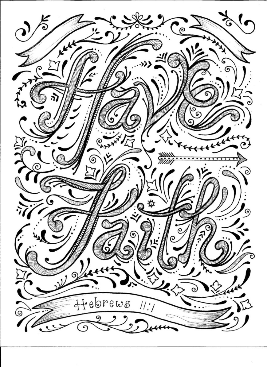 Faith Coloring Pages Instant Download Faith Coloring Page Etsy