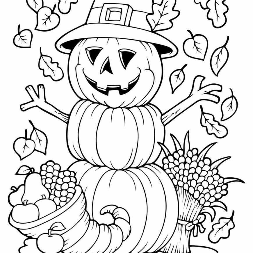 Fall Coloring Pages Coloring Page Free Fall Coloring Sheets Autumn And Pages Pumpkin