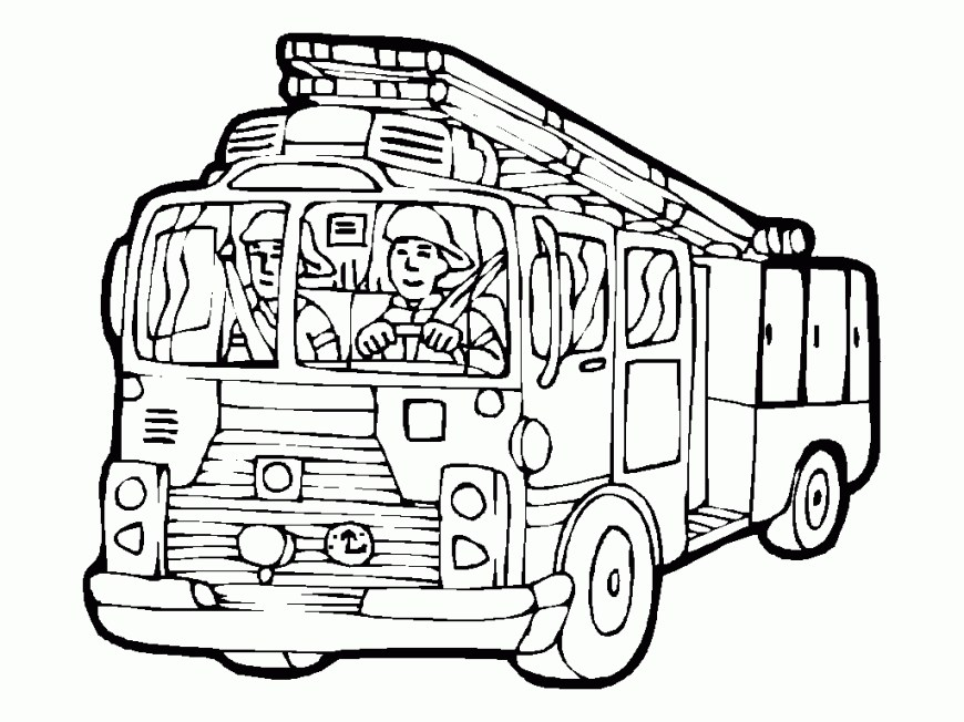 Fire Truck Coloring Page Printable Fire Truck Coloring Pages At Getdrawings Free For
