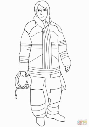 Fireman Coloring Pages Fireman Coloring Pages Lovely Fire Fighter Coloring Page Fresh