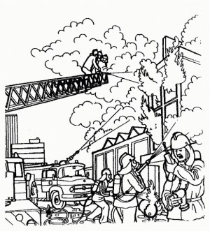 Fireman Coloring Pages For Fire Fighter Coloring Page Best Coloring Pages Collection