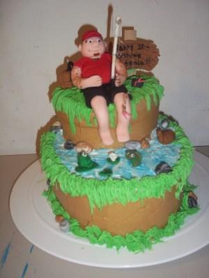 Fish Birthday Cakes Big Guy Fishing Birthday Cake Cakecentral