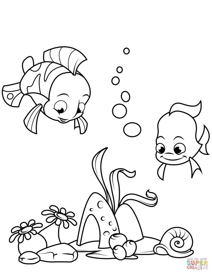Fish Coloring Pages Coral Reef Fish Coloring Page Free Printable Coloring Pages