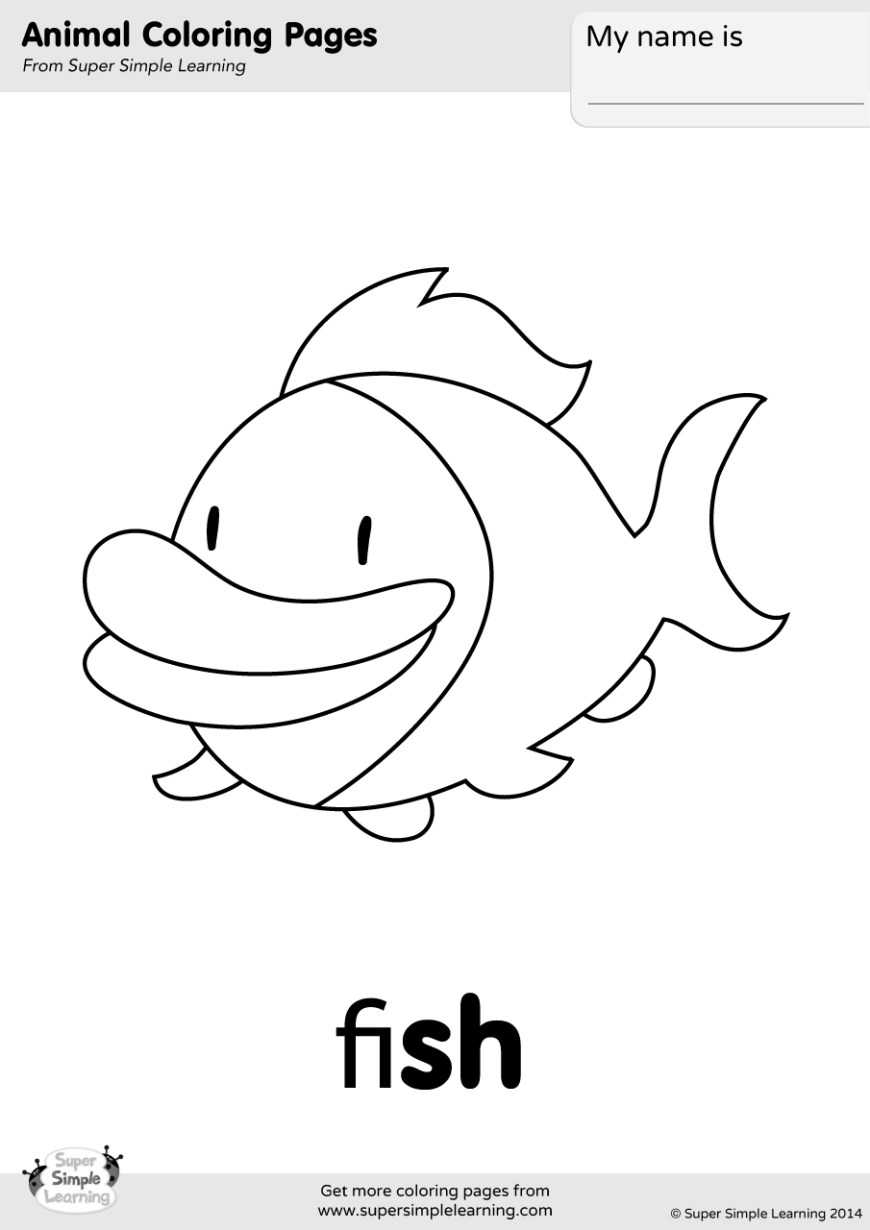 Fish Coloring Pages Fish Coloring Page Super Simple