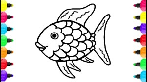 Fish Coloring Pages Fish Coloring Pages How To Draw Fish And Coloring Fish Rainbow
