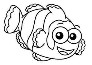 Fish Coloring Pages Print Download Cute And Educative Fish Coloring Pages