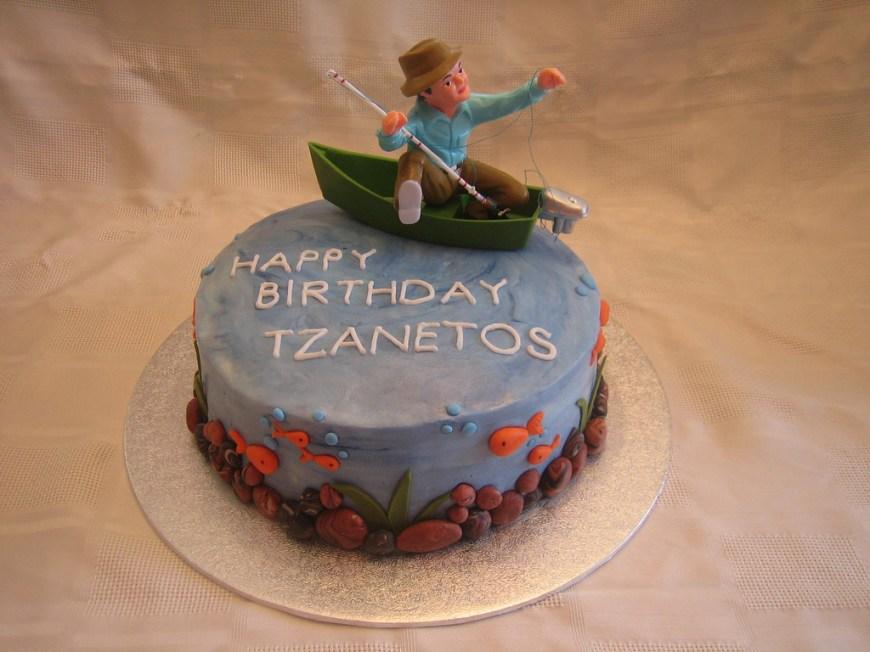 Fishing Birthday Cake Fishing Birthday Cake Fishing Birthday Cake With Fondant S Flickr