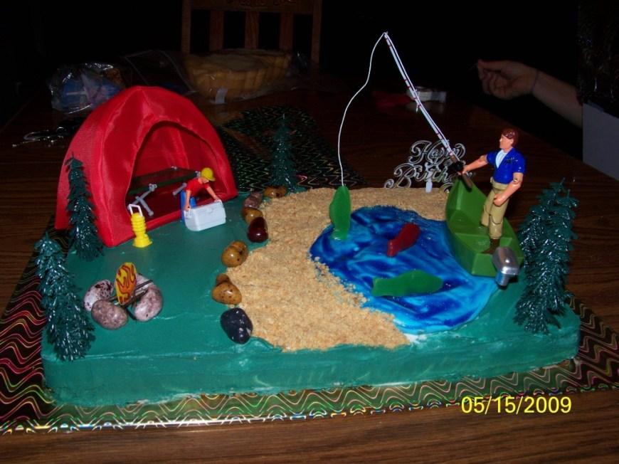 Fishing Birthday Cake Fishing Cakes Decoration Ideas Little Birthday Cakes