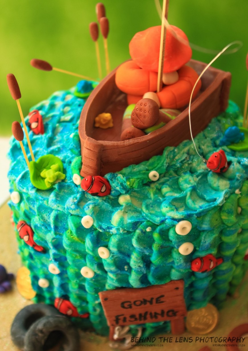 Fishing Birthday Cake Gone Fishing Birthday Cake The Pastry Angel