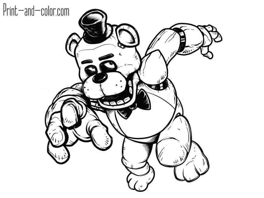 Fnaf Coloring Pages Five Nights At Freddys Coloring Pages Print And Color