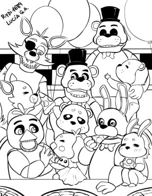 Fnaf Coloring Pages Fnaf For Kids Coloring Pages With Delightful Ideas Five Nights At