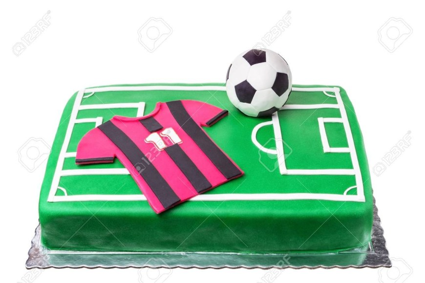 Football Birthday Cake Birthday Cake For Football Player A Football Field And A T Shirt
