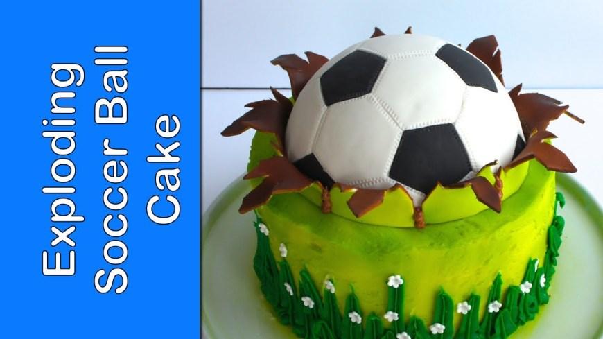Football Birthday Cake Fifa Soccer Ball Cake Football Cake How To Make A Ball Topper