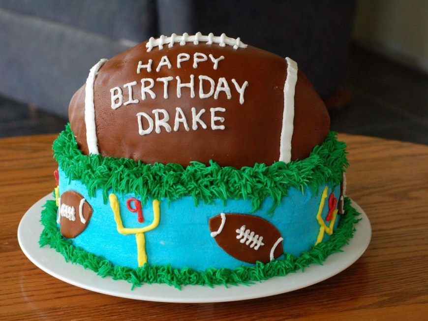 Football Birthday Cake Football Birthday Cake Cakecentral