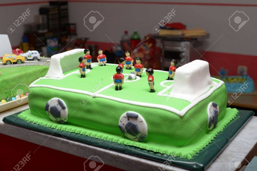 Football Birthday Cake Football Birthday Cake Stock Photo Picture And Royalty Free Image