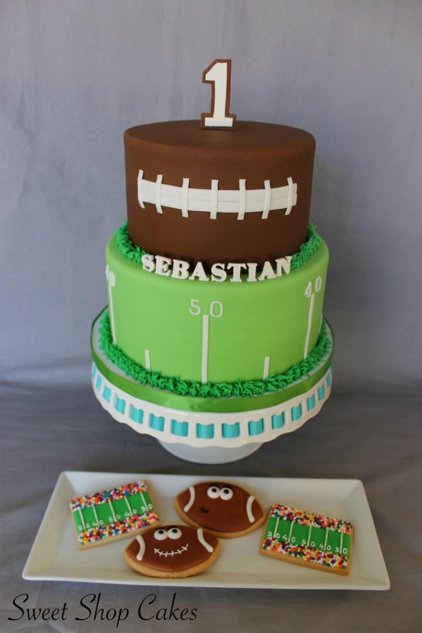 Football Birthday Cake Football Themed Birthday Cake Cakecentral