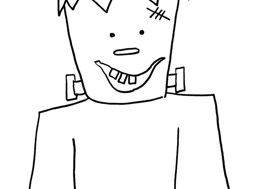 Frankenstein Coloring Pages Frankenstein Coloring Pages To Print Scary Head Cute