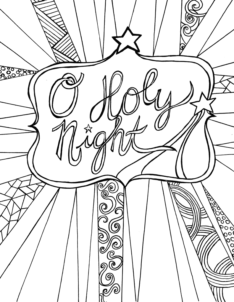 Free Adult Coloring Pages To Print Cool O Holy Night Free Adult Coloring Sheet Printable Free