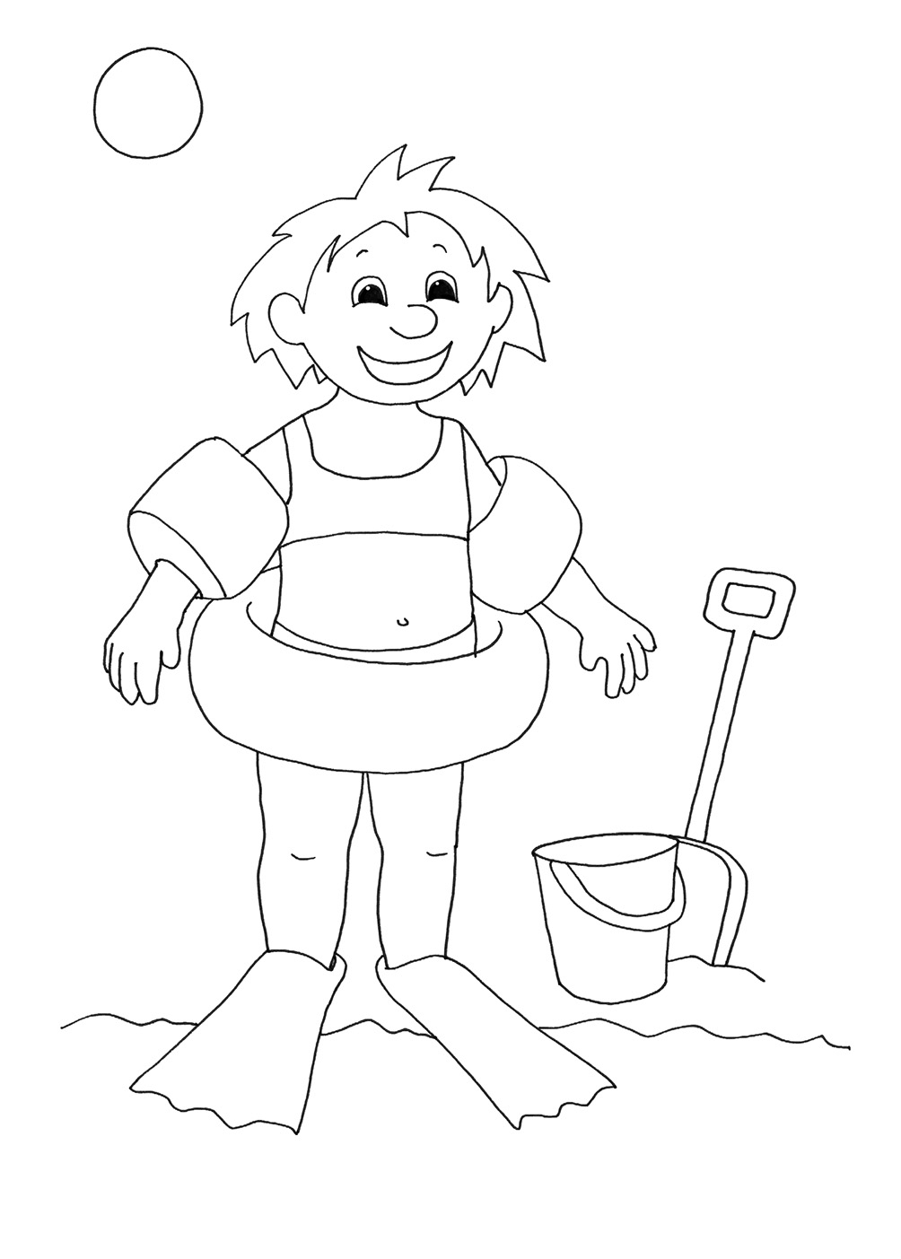 Free Coloring Pages For Girls Coloring Page Summer Coloring Pages To ...