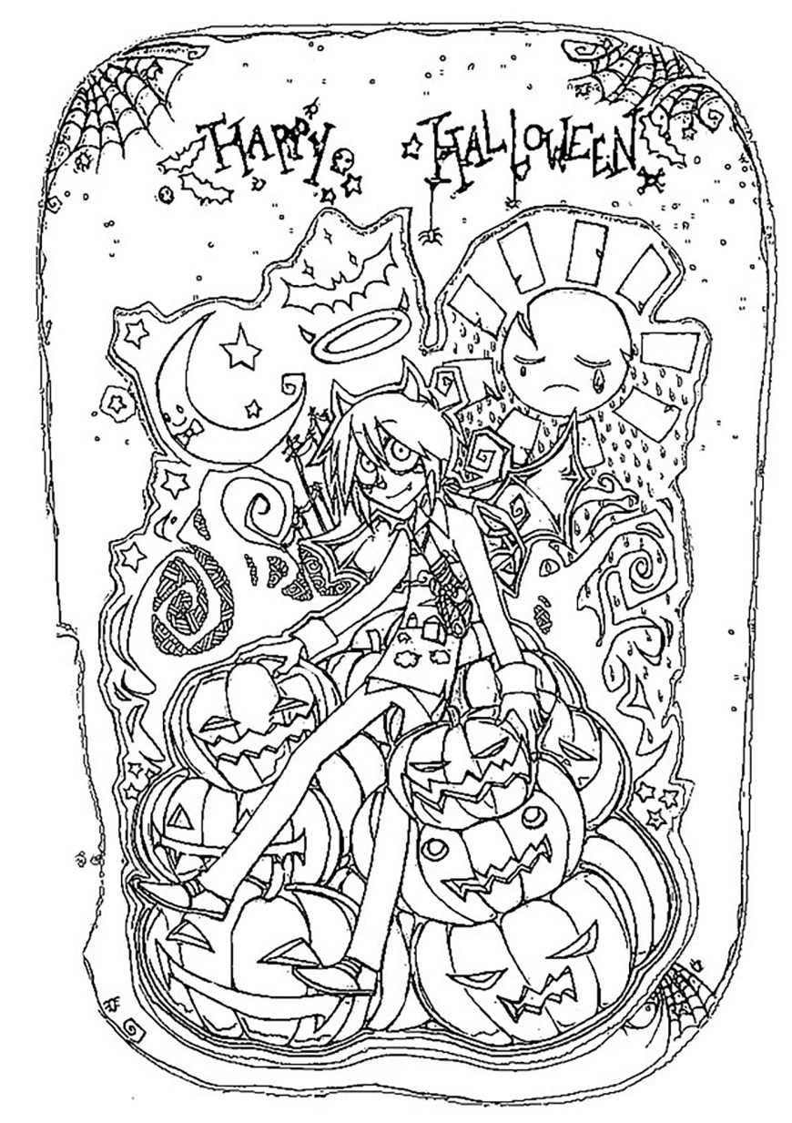 Free Halloween Coloring Pages Halloween To Download For Free Halloween Kids Coloring Pages
