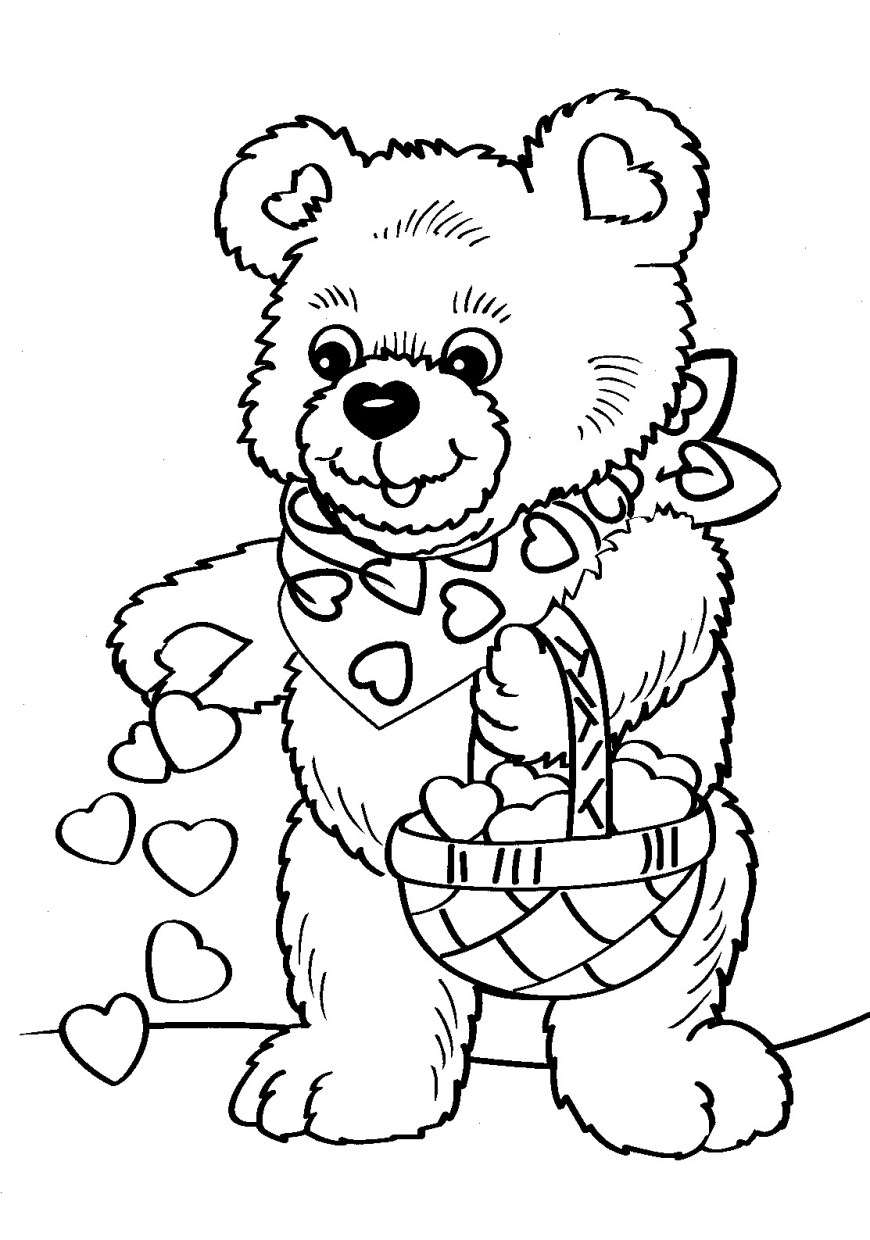 Free Printable Valentine Coloring Pages Printable Valentine Coloring Pages Coloringme