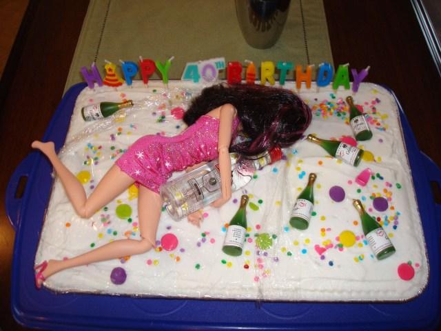 Funny 40Th Birthday Cakes Claudias 40th The Big 4 0 Pinte