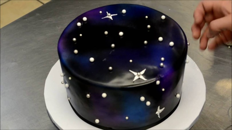 Galaxy Birthday Cake How To Make A Galaxy Theme Birthday Cake Simple Easy Technique