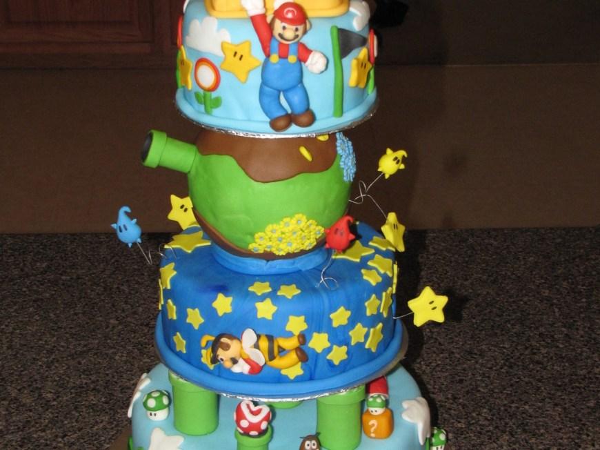 Galaxy Birthday Cake Super Duper Mario Galaxy Super Mario Birthday Cake Cakecentral