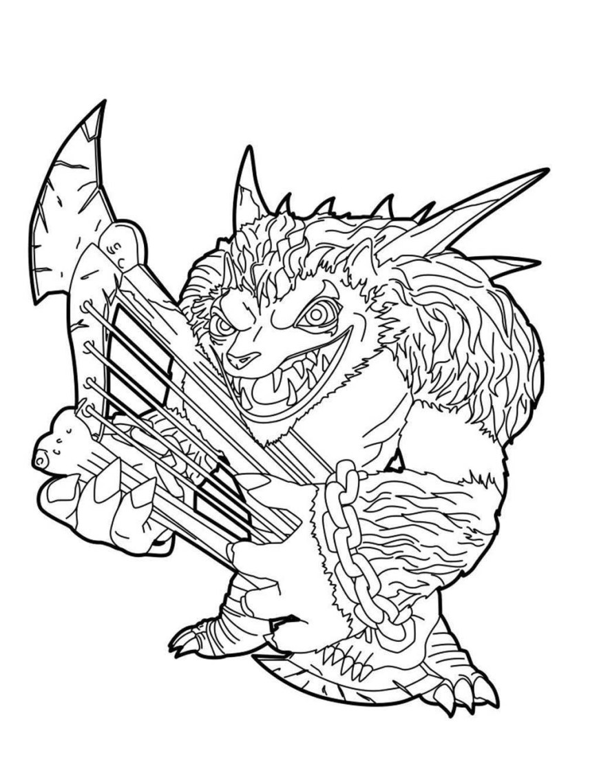 Giant Coloring Pages Skylander Giant Coloring Pages Giants Pluto Pictures Free