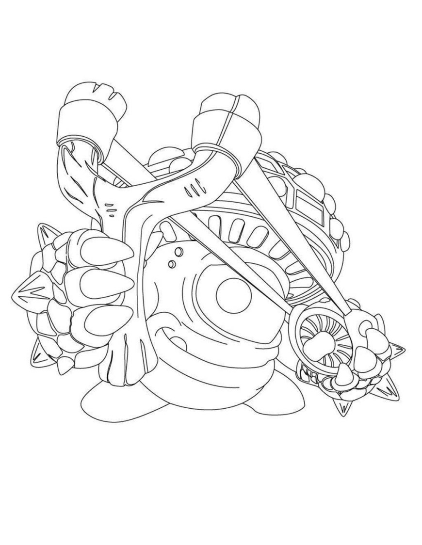 Giant Coloring Pages Skylander Giant Coloring Pages Shroomboom From For Preschool Books