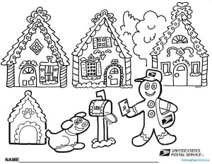 Gingerbread House Coloring Pages Gingerbread House Coloring Pages Bitslice