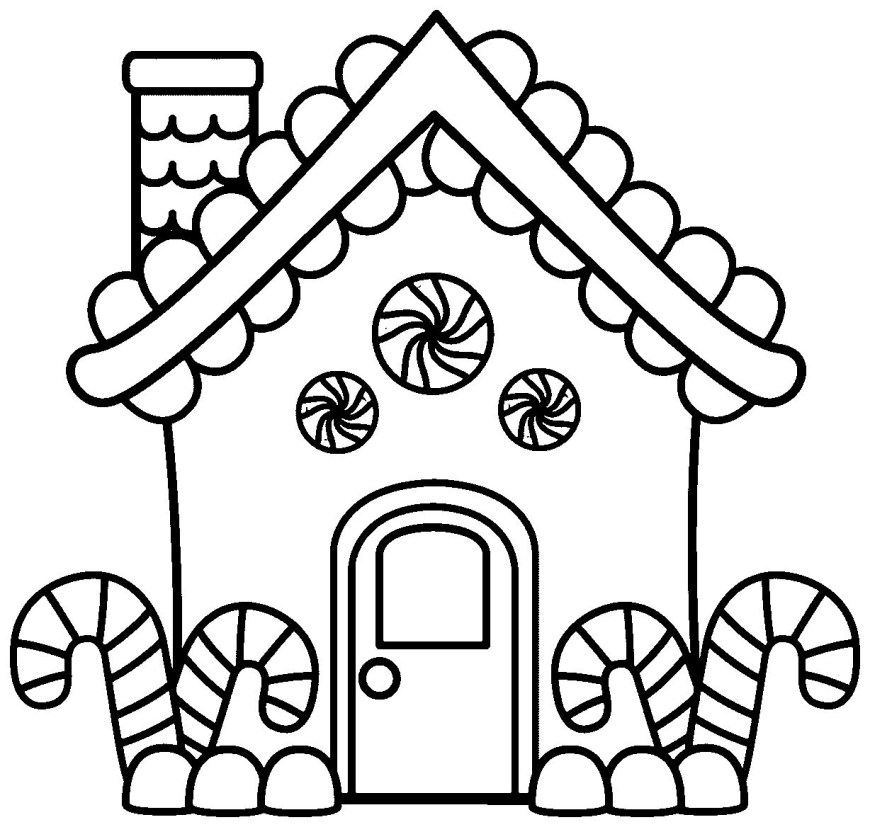 Gingerbread House Coloring Pages Gingerbread House Coloring Pages Free Download Best Gingerbread