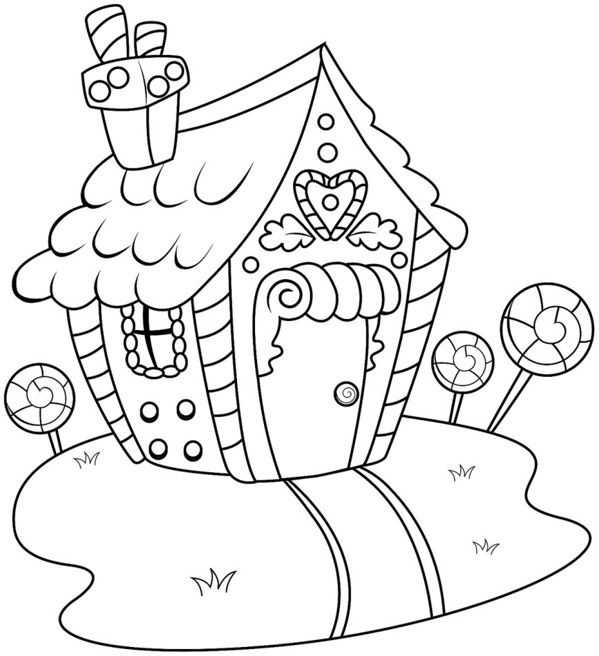 Gingerbread House Coloring Pages Gingerbread House Coloring Pages Printable Coloring Activity