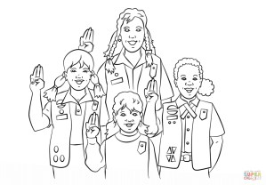 Girl Scout Coloring Pages Girl Scouts Pledge Coloring Page Free Printable Coloring Pages