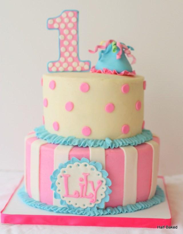 Girls Birthday Cakes Fabulous 1st Birthday Cake For Ba Girls