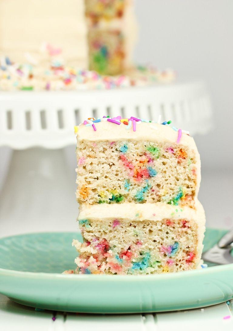 Gluten Free Birthday Cakes Vegan Gluten Free Funfetti Birthday Cake Recipe Nom Nom Nom