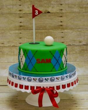 Golf Birthday Cakes 3rd Hole Golf Birthday Cake Cakecentral