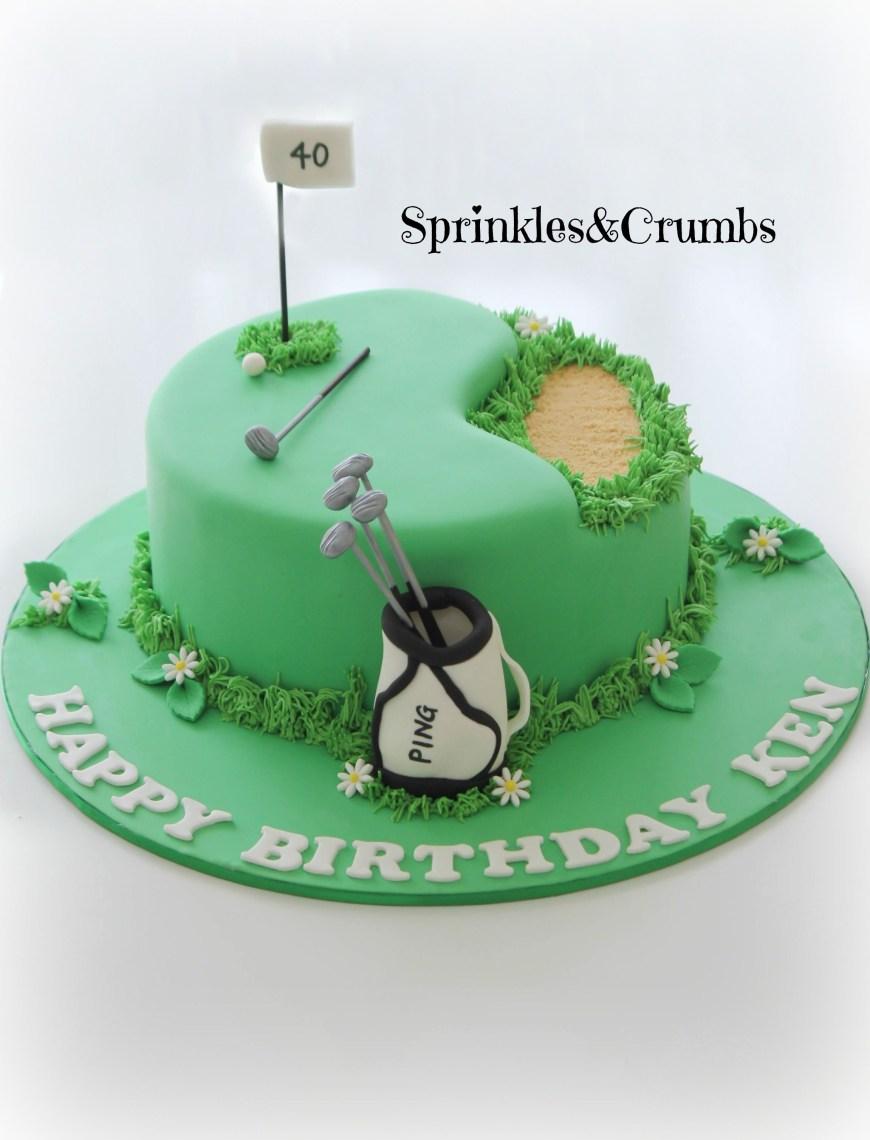 Golf Birthday Cakes 40th Birthday Golf Cake For A Man 40th Birthday Pinterest Cake
