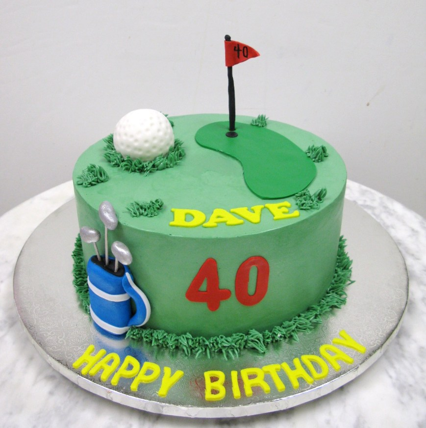 Golf Birthday Cakes Golf Birthday Mother Mousse