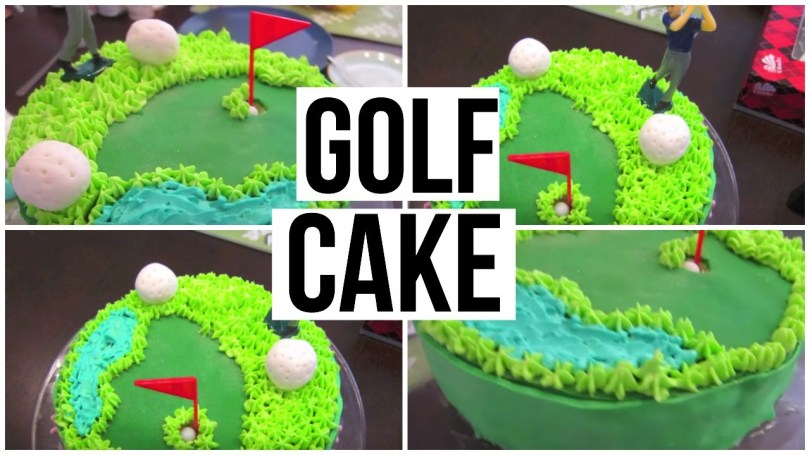 Golf Birthday Cakes Golf Cake Tutorial Youtube